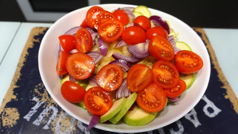 1 - macrou pe pat de legume la cuptor